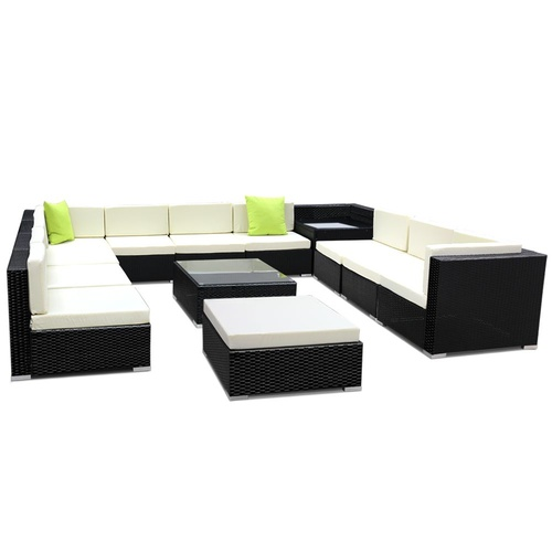 Gardeon 13PC Outdoor Furniture Sofa Set Wicker Garden Patio Lounge