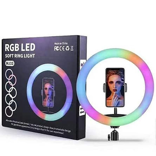 TEQ MJ33 RGB 12 inch LED Soft Ring Light